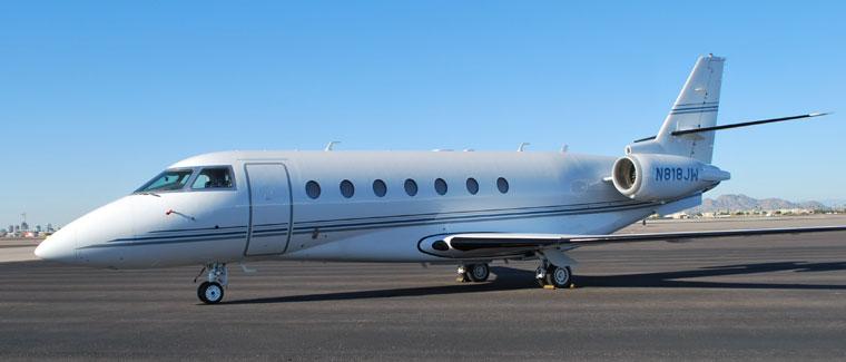 Gulfstream 200 - N818JW - Cutter Aviation Air Charter Fleet