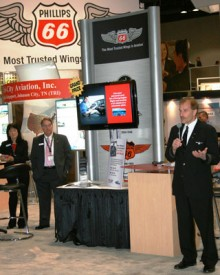 Cutter Aviation and Phillips 66 at NBAA Convention 2010 in Atlanta, GA