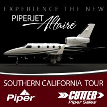 Cutter Piper Sales - PiperJet Altaire Southern California Tour 2011 - Piper Aircraft