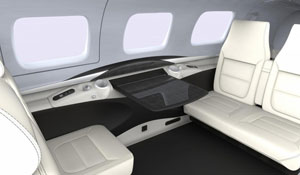 M600 Firenze Creme Interior - Cutter Aviation