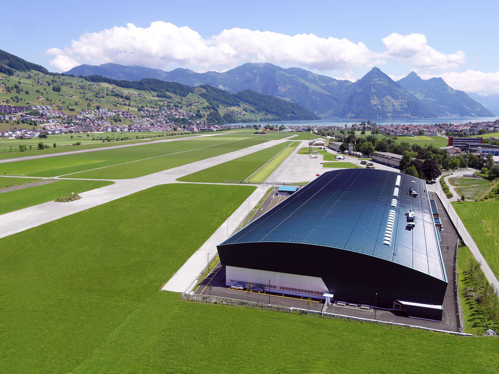 New Pilatus Structure Assembly Hall in Switzerland