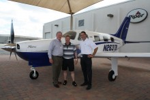 N263TB - Cutter Piper Sales. Pictured from left to right, are Will Cutter, Mark Payne and John DeLawyer.