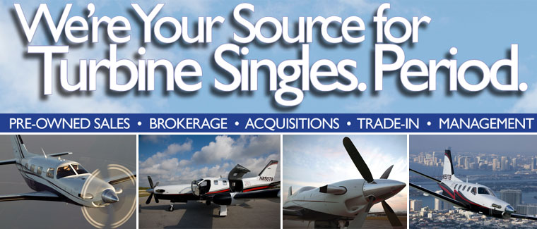 Cutter Aviation Aircraft Sales - Your Source for Turbine Single Pre-Owned Aircraft Sales - Piper Meridian - TBM 700 - TBM 900