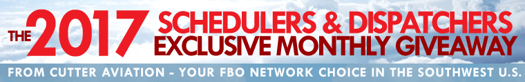 Cutter Aviation Schedulers and Dispatchers Exclusive Monthly Giveaway